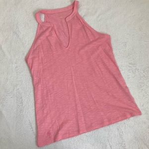 [Lilly Pulitzer] Light Pink V-Neck Tank Halter L